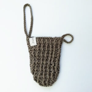 knitted body wash glove